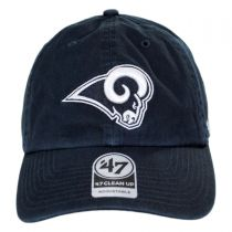 Los Angeles Rams NFL Clean Up Strapback Baseball Cap Dad Hat alternate view 2