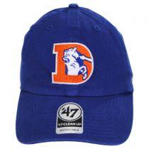 Denver Broncos NFL Clean Up Legacy Strapback Baseball Cap Dad Hat in
