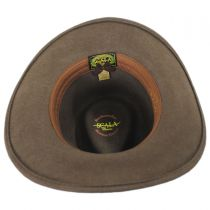Leather Band Wool Outback Hat in