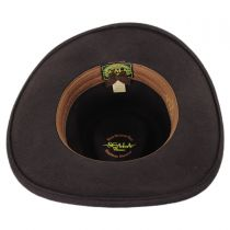Wax Cord Band Wool Outback Hat in
