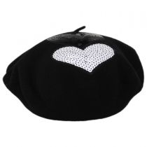 Brigitte Heart Wool Beret alternate view 2