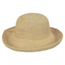 Twist Raffia Straw Boater Hat in