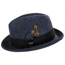 Heathered Wool Felt Fedora Hat in