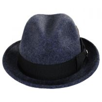 Heathered Wool Felt Fedora Hat in