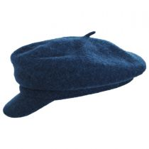 Boiled Wool Newsboy Flat Cap alternate view 3