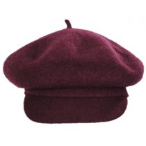 Boiled Wool Newsboy Flat Cap in