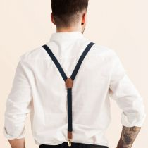 JJ Skinny Suspenders - Navy Blue in