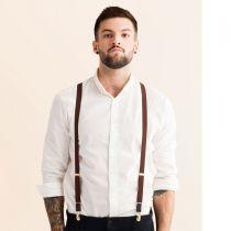 JJ Skinny Suspenders - Brown in