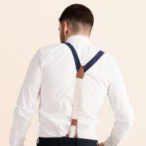 JJ Classic Suspenders - Navy Blue in