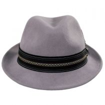 Layered Band Wool Fedora Hat in