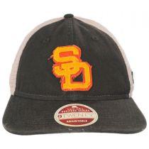 San Diego Padres 1980-1984 Strapback Trucker Baseball Cap alternate view 2