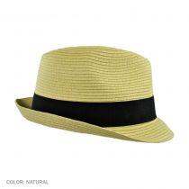 Summer Blues Toyo Straw Trilby Fedora Hat