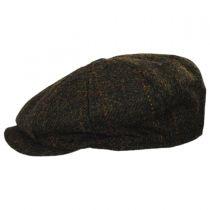 Carloway Harris Tweed Wool Windowpane Plaid Newsboy Cap alternate view 3