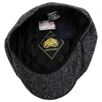 Carloway Harris Tweed Wool Herringbone Newsboy Cap in