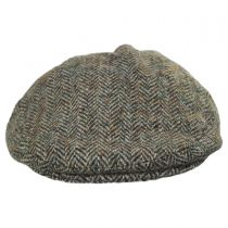 Stornoway Harris Tweed Wool Herringbone Flat Cap in