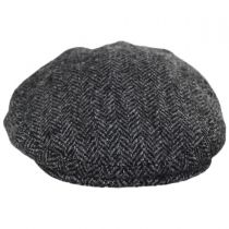 Stornoway Harris Tweed Wool Herringbone Flat Cap alternate view 2
