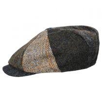 Lewis Harris Tweed Multi Wool Newsboy Cap in