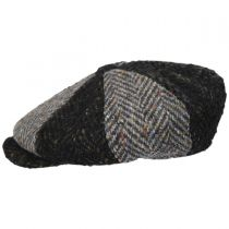 Magee 1866 Donegal Tweed Green Wool Newsboy Cap in
