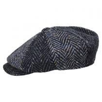 Magee 1866 Donegal Tweed Blue Wool Newsboy Cap alternate view 3