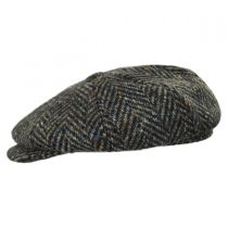 Magee 1866 Donegal Tweed Mayo Olive Wool Newsboy Cap alternate view 3