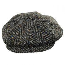 Magee 1866 Donegal Tweed Mayo Olive Wool Newsboy Cap in