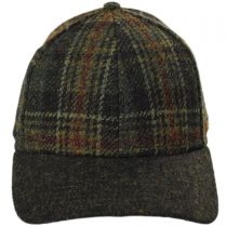 Plaid Strapback Baseball Cap in