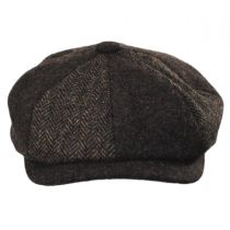 Patchwork Wool Blend Newsboy Cap in