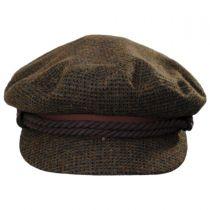 Tweed Wool Blend Fiddler Cap in