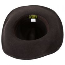 Leather and Studs Wool Western Hat in
