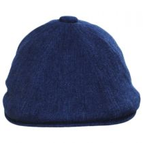 Quilted Denim Hawker Cotton Blend Newsboy Cap in