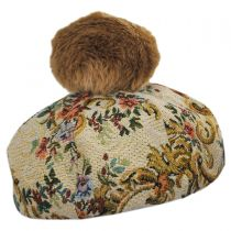 Brocade Cotton Blend Beret in