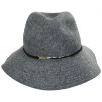 Safari Gold Accent Wool Felt Fedora Hat in