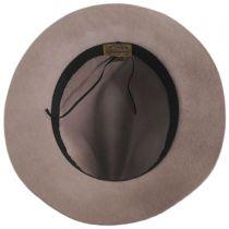Safari Ribbon and Leather Wool Fedora Hat in