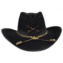 Cavalry Insignia Wool Western Hat in