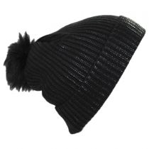 Metallic Pom Beanie Hat in