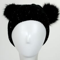 Pom Ears Beanie Hat in