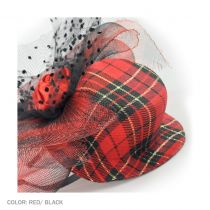 Plaid Mini Hat with Veil