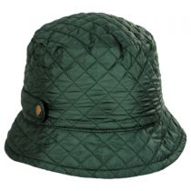 Quilted Rollup Rain Bucket Hat in