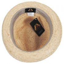 Golden Hill Raffia Straw Fedora Hat in