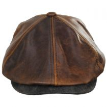 Leather Suede Newsboy Cap in