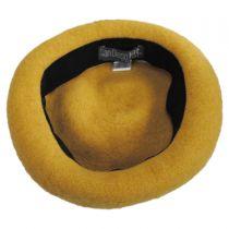 Kids Lemon Wool Beret Hat in