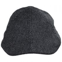 Pinstripe Wool and Cotton Blend Duckbill Cap in