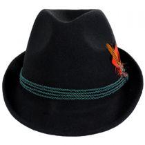 Bavarian Alpine Wool Felt Trilby Fedora Hat alternate view 14