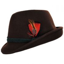 Bavarian Alpine Wool Felt Trilby Fedora Hat alternate view 19