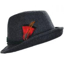 Bavarian Alpine Wool Felt Trilby Fedora Hat alternate view 23