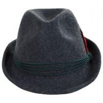 Bavarian Alpine Wool Felt Trilby Fedora Hat in