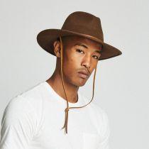 Field Wool Felt Wide Brim Fedora Hat in