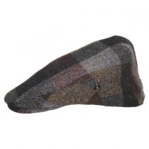 Herringbone Squares Donegal Tweed Wool Ivy Cap in