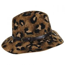 Cheetah Wool Felt Gambler Hat in