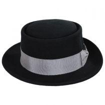 Wool Felt Porkpie Hat in